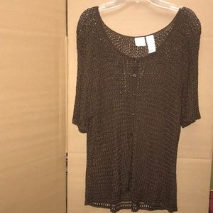 Brown knitted top, used